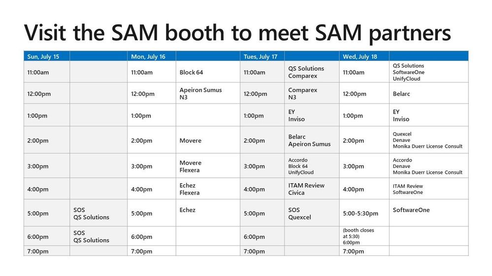 Visit the SAM booth to meet SAM partners.jpg