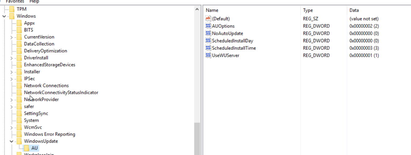Windows server 2016 rds connected to WSUS - Microsoft