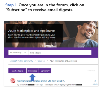 How To: Register and Subscribe to a Forum - Microsoft Partner Community