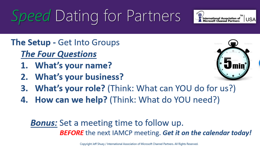 Speed dating get to know you questions